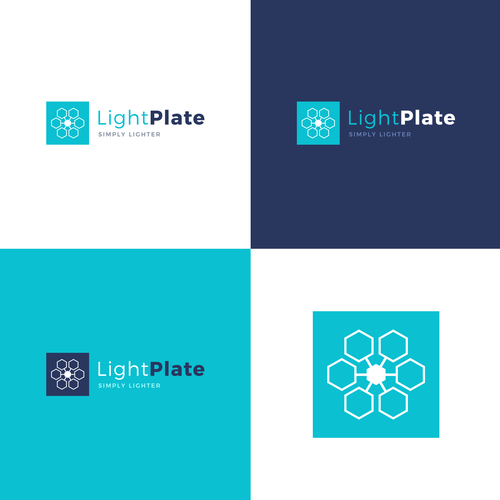 Honeycomb design with the title 'LightPlate Branding / Hosted Website'