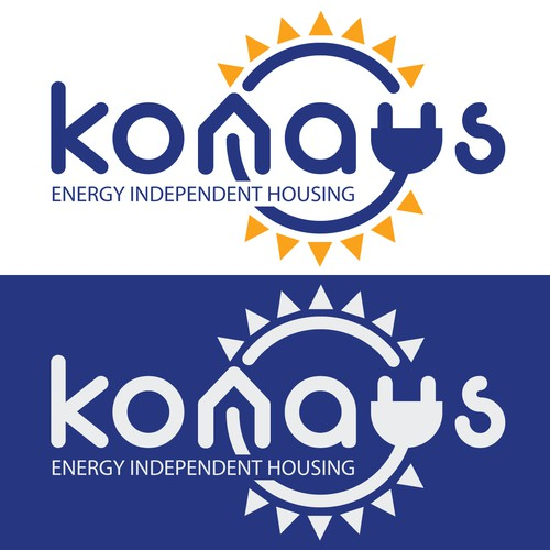 Solar company logo with the title 'Bold logo for an energy independent housing company'