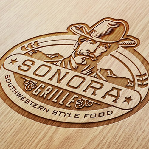 Sheriff logo with the title 'CREATE A MODERN LOGO FOR SOUTHWESTERN STYLE FOOD COMPANY'