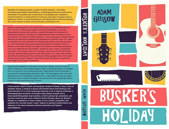 Summer book cover with the title 'Saul Bass–Style Book Cover for Summer Read'