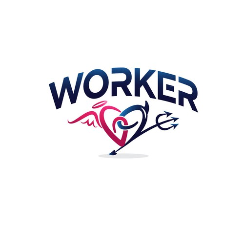 Angel wings logo with the title 'Worker69'