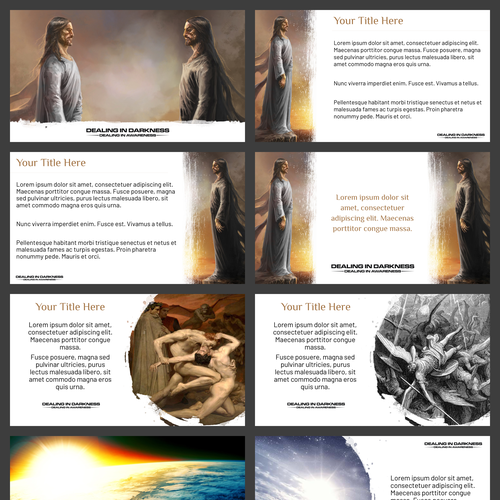 Jesus design with the title 'A Book Inspired Presentation Template'