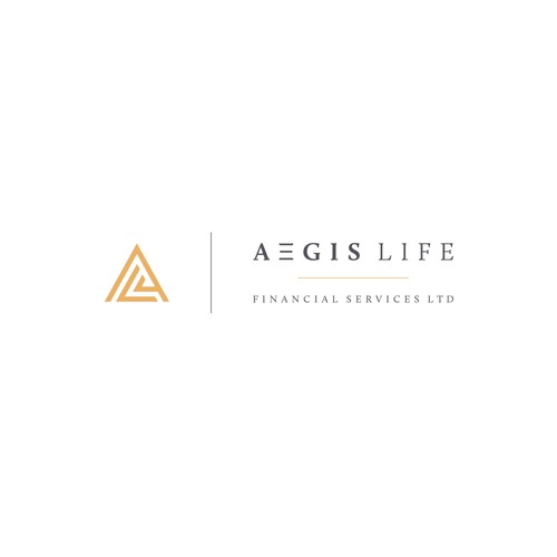 Finance brand with the title 'Logo design for Aegis Life'