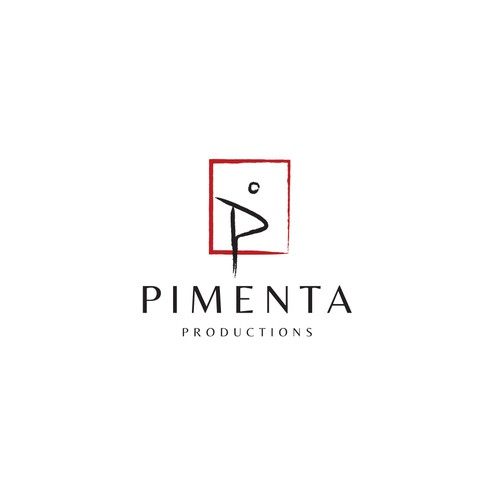 Abstract art logo with the title 'Minimalist artistic logo for Pimenta'