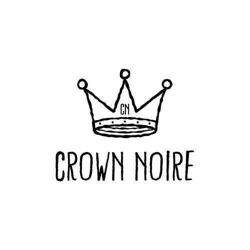 Castle logo with the title 'Crown Noire Logo Design'