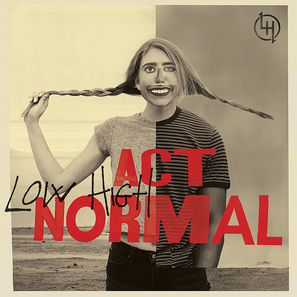 Packaging illustration with the title 'Act Normal'