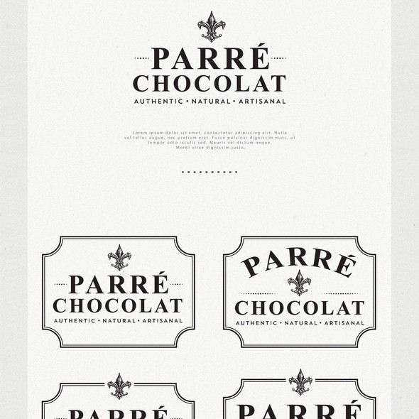 Chocolate logo with the title 'Logo Design for Parré Chocolat'