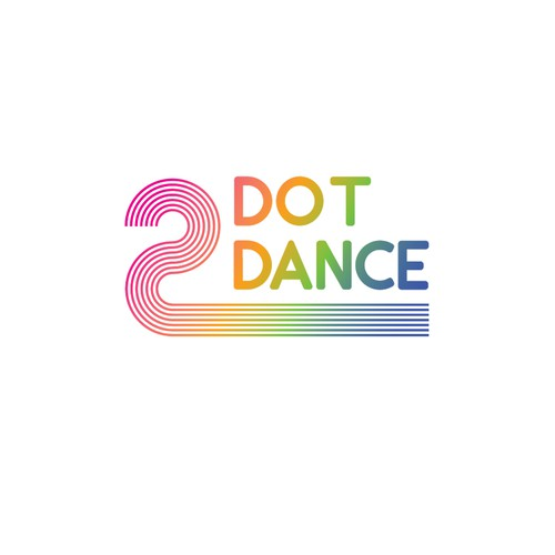 Curvy design with the title 'Dot2Dance proposal logo'