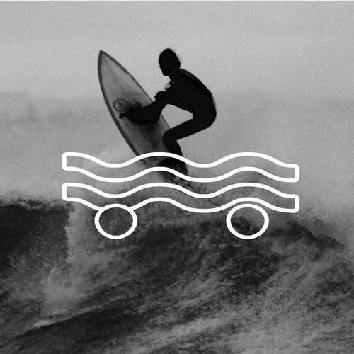 Longboard logo with the title 'Logo for global surf (skate) brand'