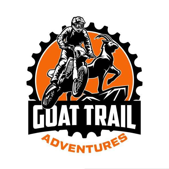 Motocross design with the title 'Winner of Goat Trail Adventures Contest'