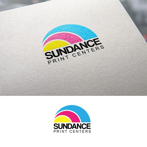 CMYK design with the title 'Logotipo Sundance Print Centers'