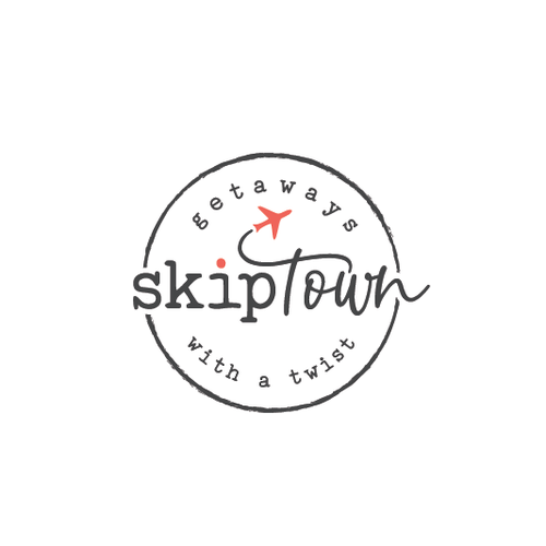 Modern logo with the title 'skiptown'