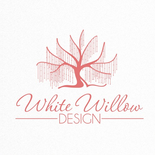 Home decor logo with the title 'Create an inspiring and fun identity for White Willow Kids - making kids spaces sparkle!'