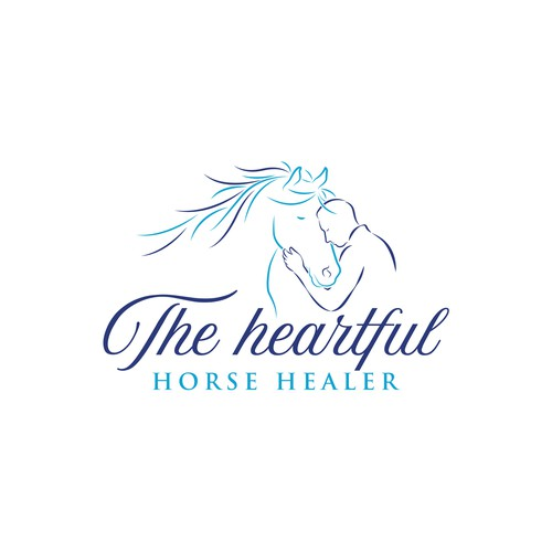 Chiropractic logo with the title 'The Heartful Horse Healer'