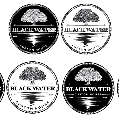 Lake design with the title 'Blackwater Custom Homes'