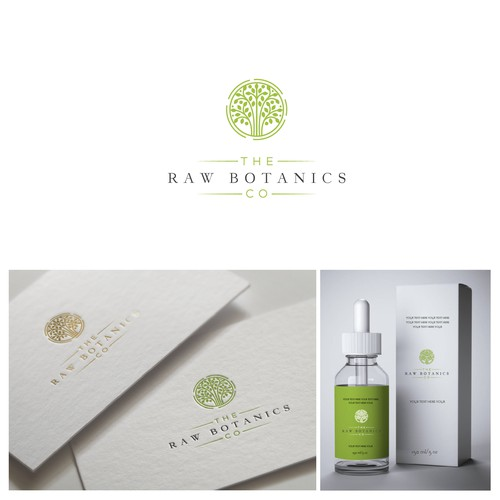 Healthcare logo with the title 'The Raw Botanics Co'