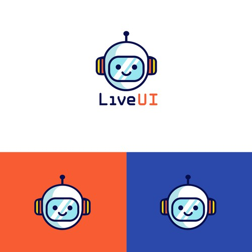 Kawaii logo with the title 'Little Robot'