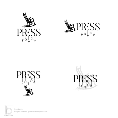 Chair design with the title 'Logo Design for Press Porch'