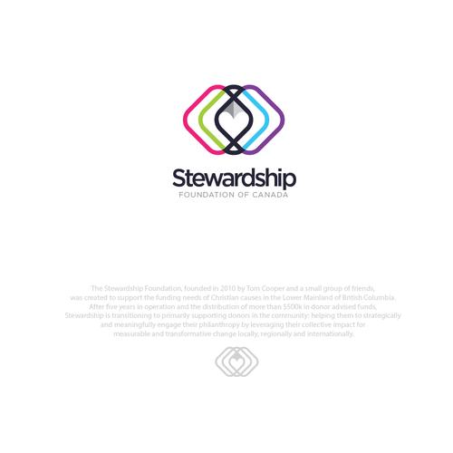 Organization logo with the title 'logo design for stewardship non-profit organization'