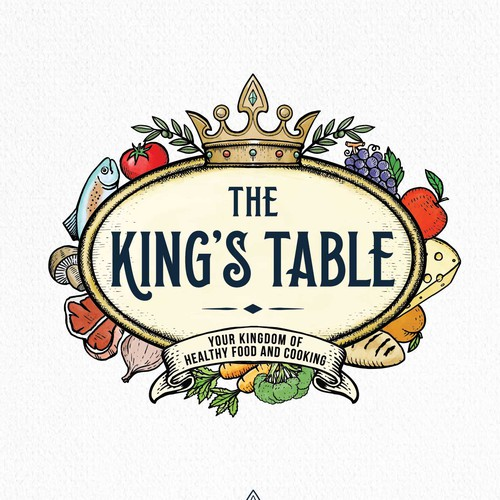 Engraved design with the title 'The King's Table'