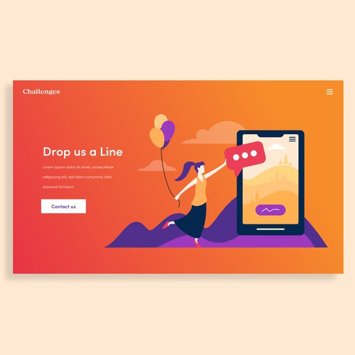 Gradient design with the title 'Illustration'