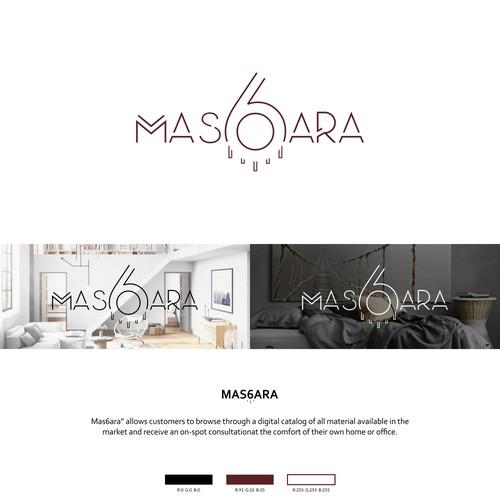 Home design logo with the title 'MAS6ARA'