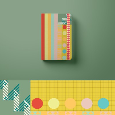 notepad colourful pattern design