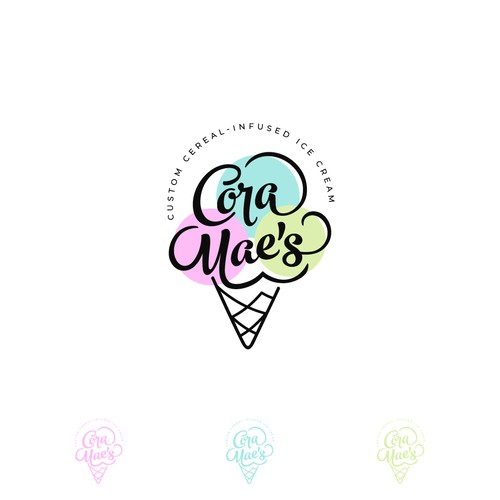 Tapas logo with the title 'Logo for Cora Mae's Ice Cream'
