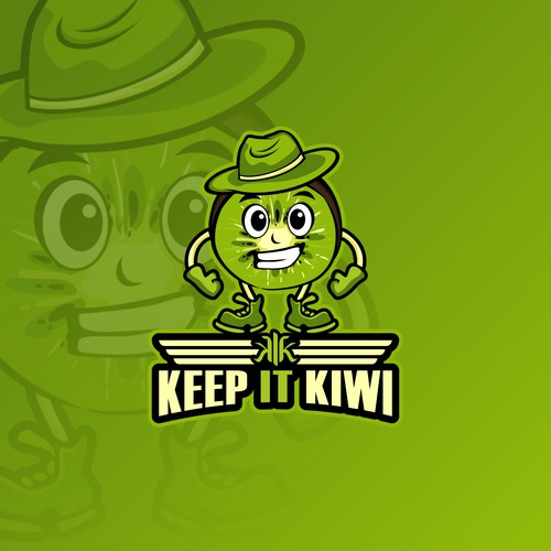 Kiwi logo with the title 'kiwi mascot logo'