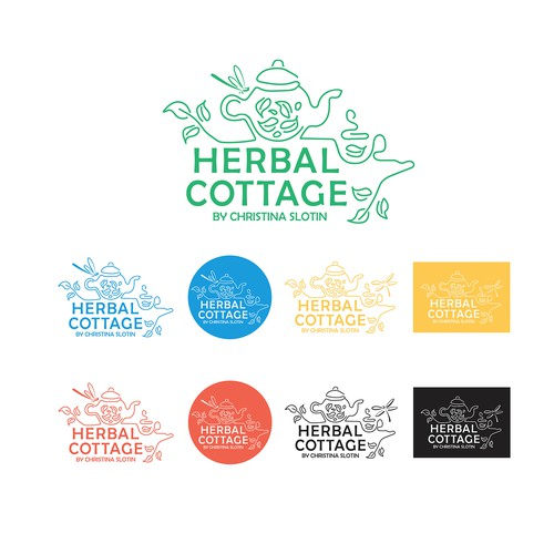 Russian design with the title 'Cromatix_work_Logo_Herbal Cottage'