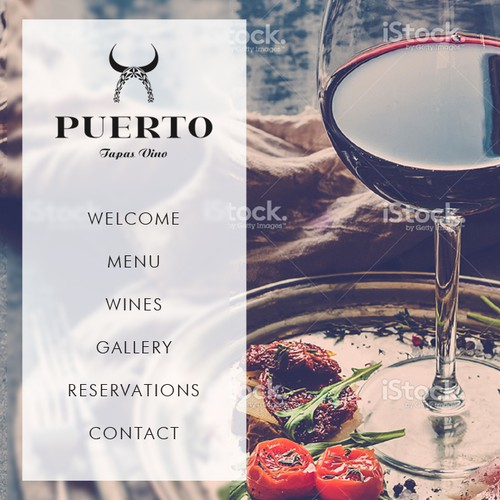 Wine website with the title 'Web page for restaurant'