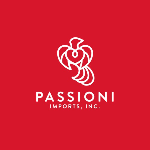 Couples design with the title 'Logo Design for Passioni Imports Inc'