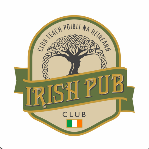 Irish logo with the title 'Irish Pub Club'