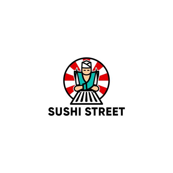 Japanase restaurant logo with the title 'Sushi Street logo'