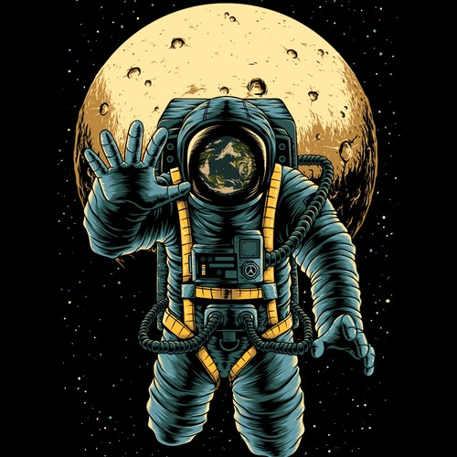 Space t-shirt with the title 'Moon astronaut'