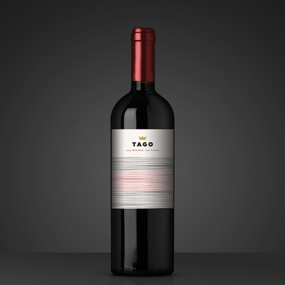Contemporary Wine Brand Label