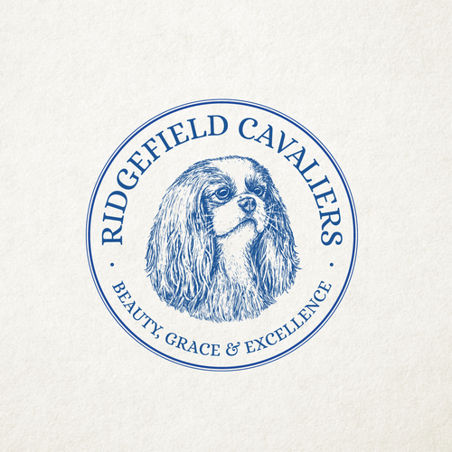 Wool design with the title 'RIDGEFIELD CAVALIERS'