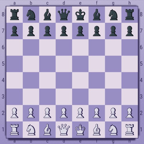 Chess design with the title 'Diagram for famous chess moves '