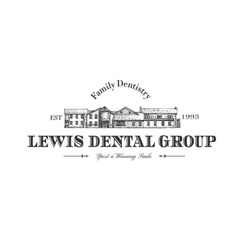 Village design with the title 'Lewis Dental Group'