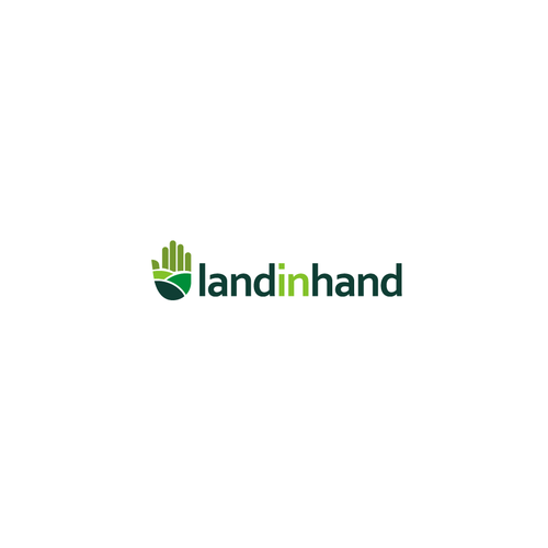 Land logo with the title 'Land in Hand'