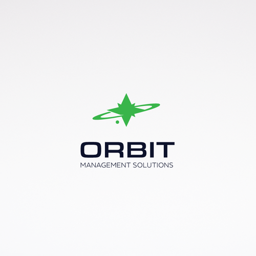 Planet logo with the title 'Orbit space themed logo'