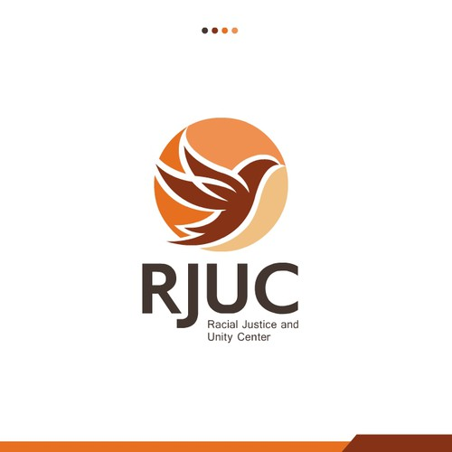 Dove design with the title 'RJUC justice unity center logo designs'