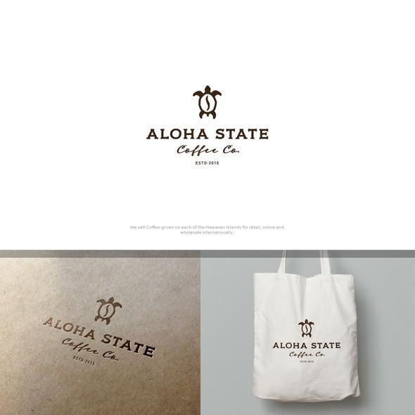 Aloha logo with the title 'Aloha State Coffee Co.'