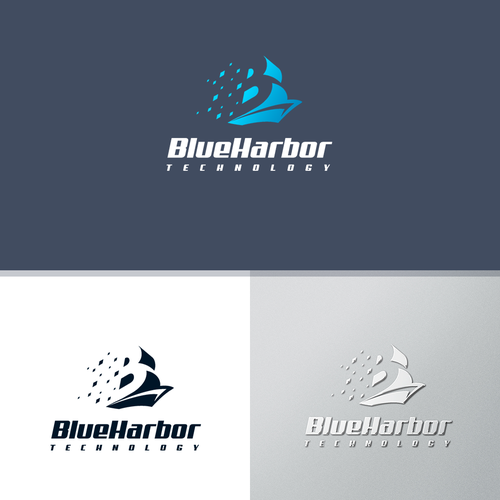 Port logo with the title 'Logo for IT service company BlueHarbor'
