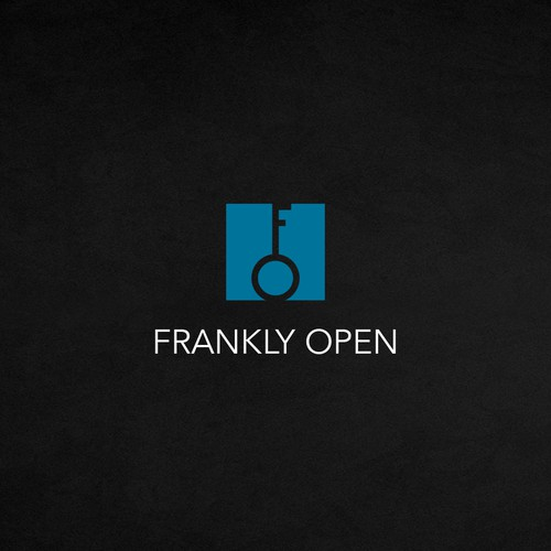 Hardware design with the title 'A winning logo design for Frankly Open'