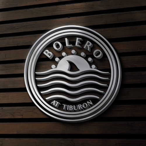 Stamp brand with the title 'Logo for the Bolero at Tiburon, condo community in South Florida'
