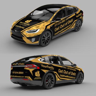Tesla model x wrap design