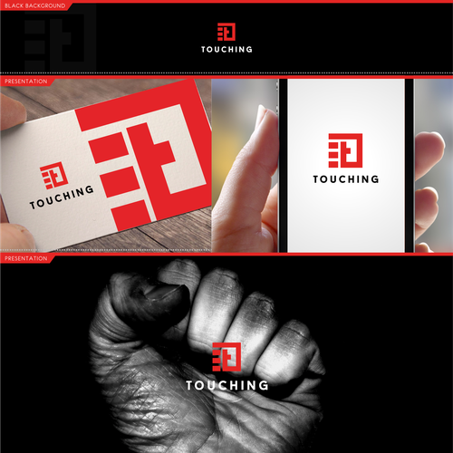 Fist logo with the title 'logo for a tech company'