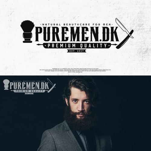 Men's fashion design with the title 'PUREMEN.DK'