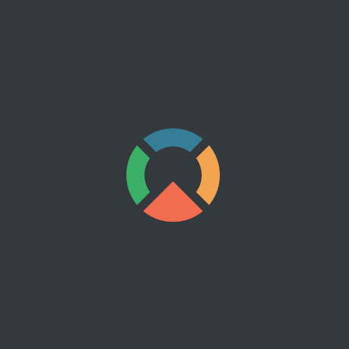 Pie chart logo with the title 'Logo for investment analytics company'